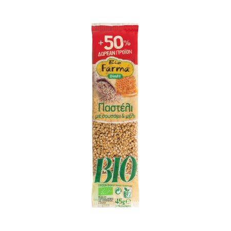 DIMFIL Bio Farma Παστέλι με Μέλι & Σουσάμι Βιολογικό 30gr +50% Δώρο