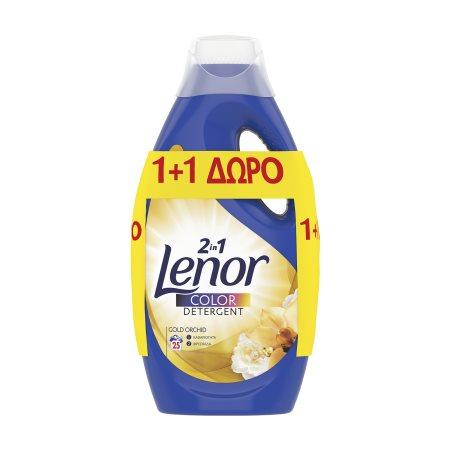LENOR Gold Orchid Απορρυπαντικό Πλυντηρίου Ρούχων Υγρό 2in1 25 πλύσεις +1 Δώρο