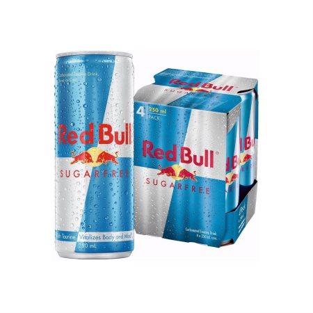 RED BULL Ενεργειακό Ποτό Χωρίς ζάχαρη 4x250ml