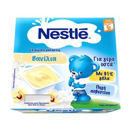 NESLAC Επιδόρπιο Γάλακτος Βανίλια 4x100gr