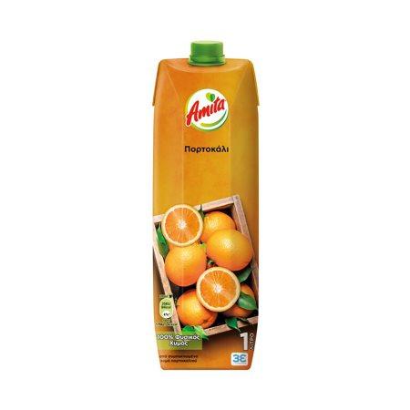 AMITA Χυμός Φυσικός Πορτοκάλι 1lt