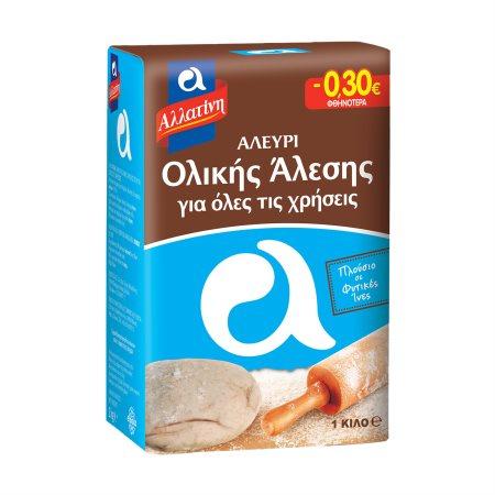 ΑΛΛΑΤΙΝΗ Αλεύρι Ολικής Άλεσης για Ψωμί 1Kg