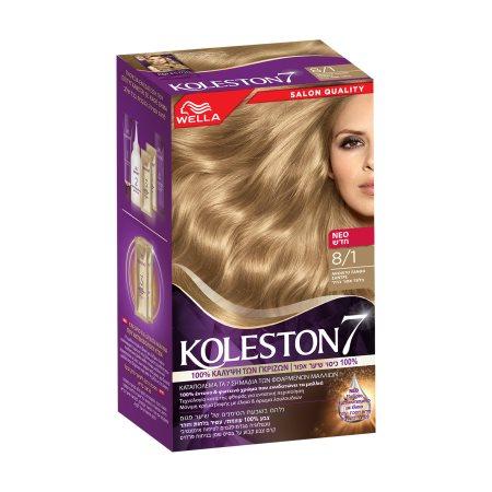 KOLESTON Βαφή Μαλλιών Νο8.1 Ξανθό Ανοιχτό Σαντρέ 50ml