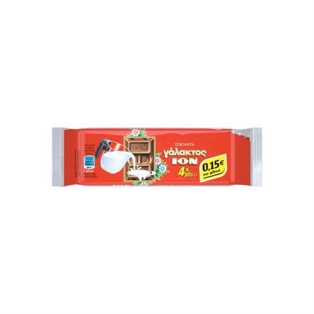 ΙΟΝ Σοκολάτα Γάλακτος 4x30gr