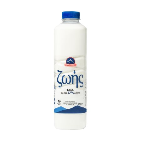 ΟΛΥΜΠΟΣ Ζωής Γάλα Υψηλής Παστερίωσης Πλήρες 1,5lt