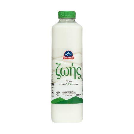 ΟΛΥΜΠΟΣ Ζωής Γάλα Υψηλής Παστερίωσης Ελαφρύ 1,5lt