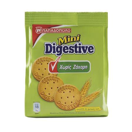 ΠΑΠΑΔΟΠΟΥΛΟΥ Digestive Μίνι Μπισκότα Χωρίς ζάχαρη 70gr