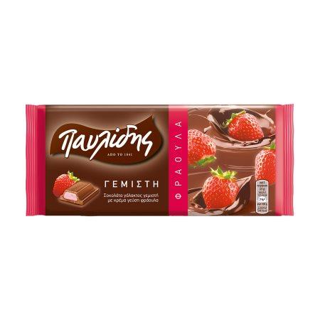 ΠΑΥΛΙΔΗΣ Σοκολάτα Γεμιστή με Κρέμα Φράουλα 100gr