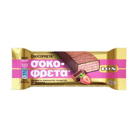 ΙΟΝ Σοκοφρέτα Γάλακτος με Φράουλα 38gr