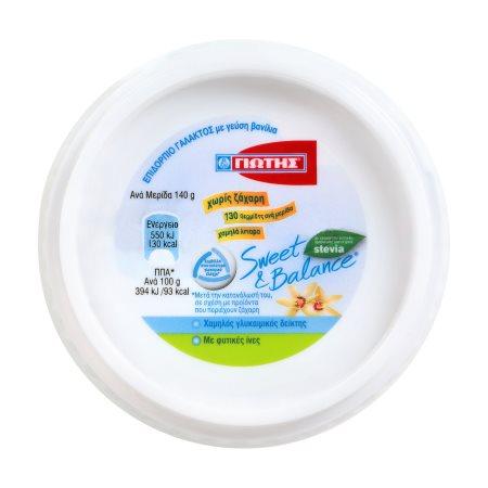 ΓΙΩΤΗΣ Sweet & Balance Επιδόρπιο Γάλακτος με Γεύση Βανίλια Χωρίς ζάχαρη 140gr