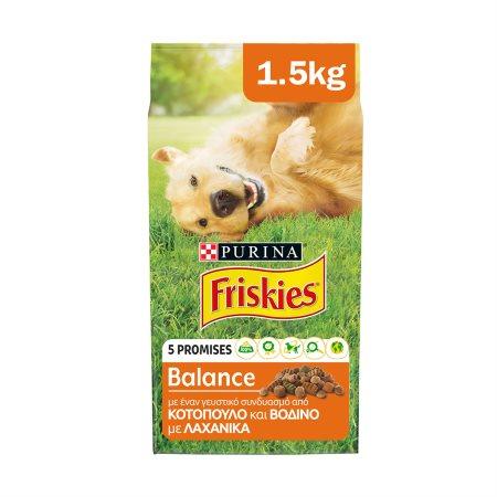 FRISKIES Balance Ξηρά Τροφή Σκύλου Κοτόπουλο 1,5kg