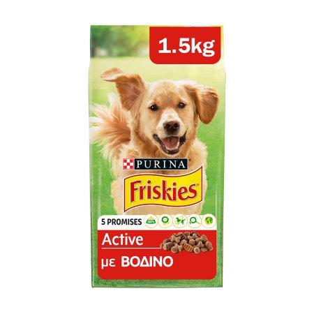 FRISKIES Active Ξηρά Τροφή Σκύλου Βοδινό 1,5kg