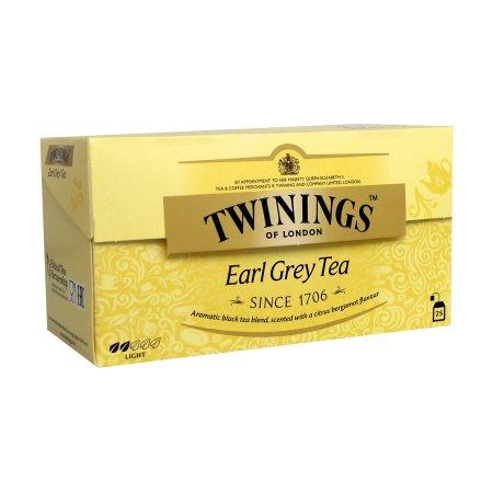 TWININGS Earl Grey Μαύρο Τσάι 25 φακελάκια x2gr