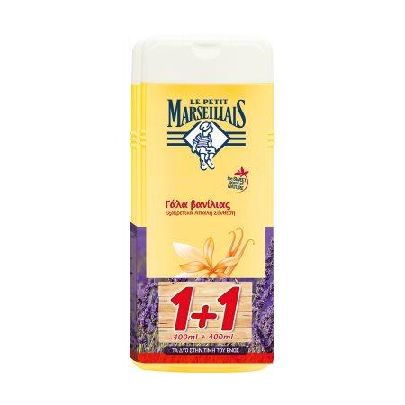 LE PETIT MARSEILLAIS Αφρόλουτρο με Γάλα Βανίλιας 400ml +1 Δώρο