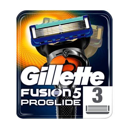 GILLETTE Ανταλλακτικές Κεφαλές Ξυρίσματος Fusion ProGlide 3τεμ