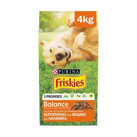 FRISKIES Balance Ξηρά Τροφή Σκύλου Κοτόπουλο & Λαχανικά 4kg