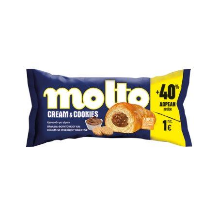 MOLTO Κρουασάν Cookies & Cream 80gr + 40% Δώρο