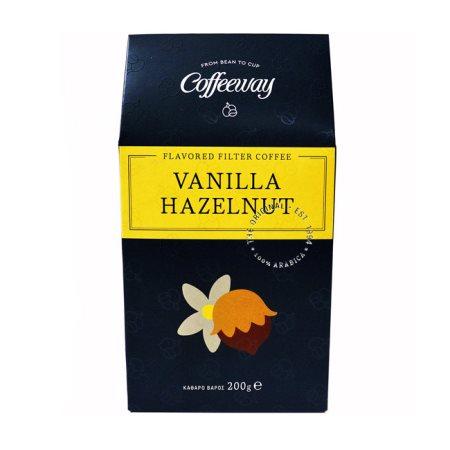 COFFEEWAY Καφές Φίλτρου Βανίλια Φουντούκι 200gr