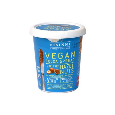 SISINNI Κρέμα Κακάο με Φουντούκι Vegan Χωρίς γλουτένη 400gr