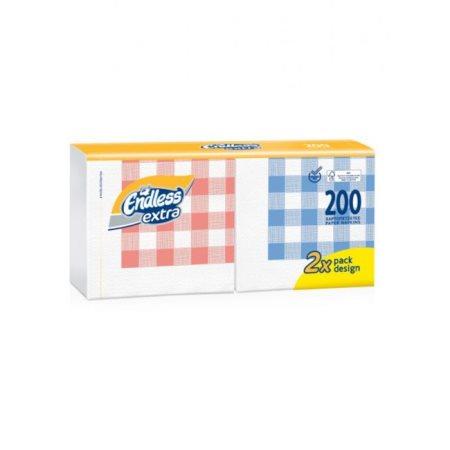 ENDLESS Extra Χαρτοπετσέτες Καρό 200 φύλλα 381gr