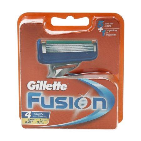 GILLETTE Ανταλλακτικές Κεφαλές Ξυρίσματος Fusion 4τεμ