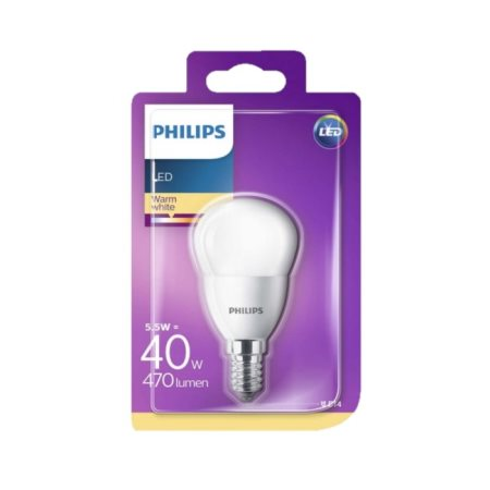 PHILIPS Λαμπτήρας Led Θερμό Φως Σφαιρικό 5,5-40W