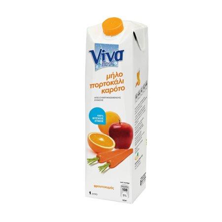 VIVA Fresh Χυμός Φυσικός Καρότο Μήλο Πορτοκάλι 1lt