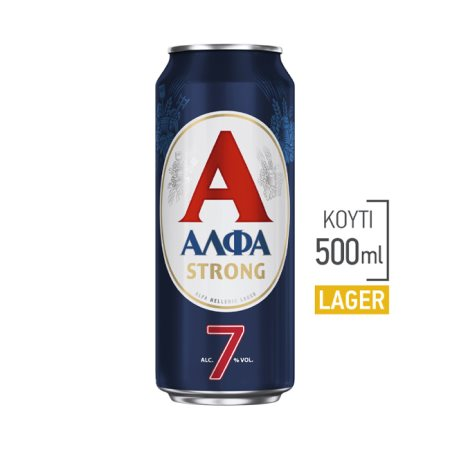 ΑΛΦΑ Strong Μπίρα Lager 500ml