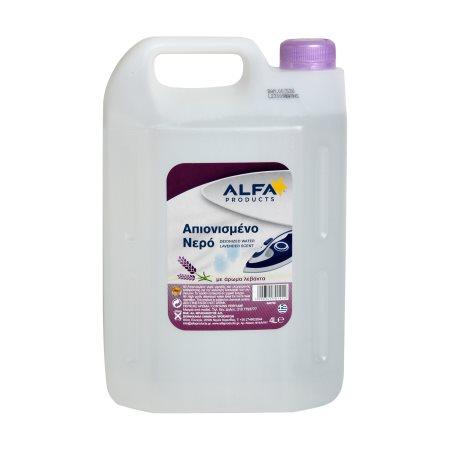 ALFA Aqua Απιονισμένο Νερό Λεβάντα 4lt