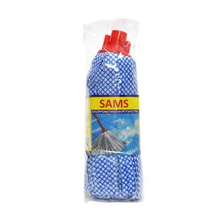 SAMS Σφουγγαρίστρα Καρό Χονδρό Σπείρωμα
