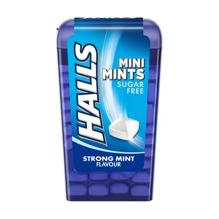 HALLS Mini Mints Καραμέλες Strong Mint Χωρίς ζάχαρη 12,5gr
