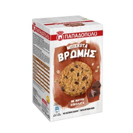 ΠΑΠΑΔΟΠΟΥΛΟΥ Μπισκότα Βρώμης με Μαύρη Σοκολάτα 150gr