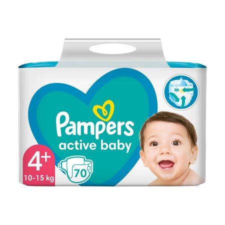 PAMPERS Active Baby Πάνες Νο4+ 10-15kg 70τεμ