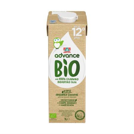 ΔΕΛΤΑ Advance Ρόφημα Γάλακτος Υψηλής Θερμικής Επεξεργασίας Βιολογικό 1lt