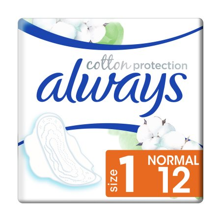 ALWAYS Cotton Protection Σερβιέτες Normal 12τεμ