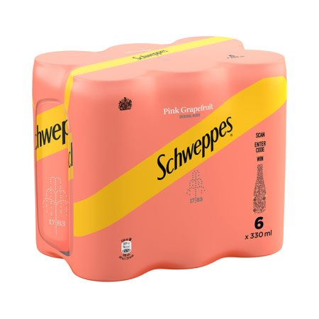 SCHWEPPES Αναψυκτικό Pink Grapefruit 6x330ml