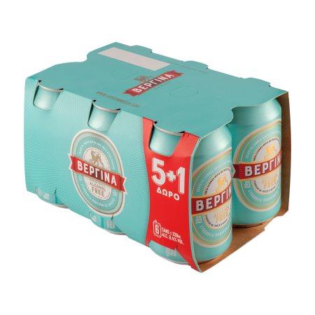 ΒΕΡΓΙΝΑ Μπίρα Χωρίς Αλκοόλ 5x330ml +1 Δώρο