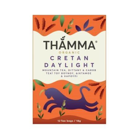 THAMMA Τσάι Βουνού Cretan Daylight Δίκταμο & Χαρούπι Βιολογικό 12 φακελάκια 18gr