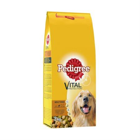 PEDIGREE Vital Ξηρά Τροφή Σκύλου Adult Μοσχάρι Λαχανικά 3kg