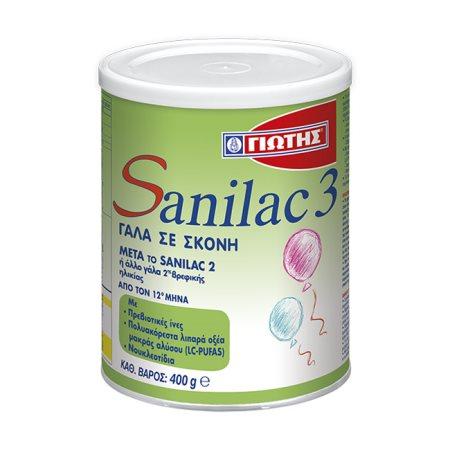 ΓΙΩΤΗΣ Sanilac 3 Γάλα 3ης Βρεφικής Ηλικίας +12 Μηνών σε σκόνη 400gr