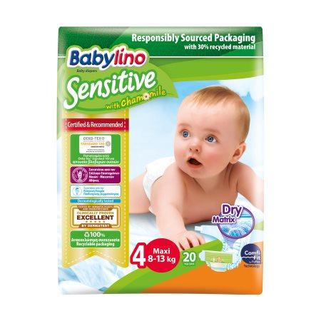 BABYLINO Sensitive Πάνες Νο4 7-18kg 20τεμ