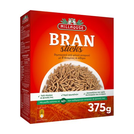 MILLHOUSE Bran Sticks Δημητριακά 375gr