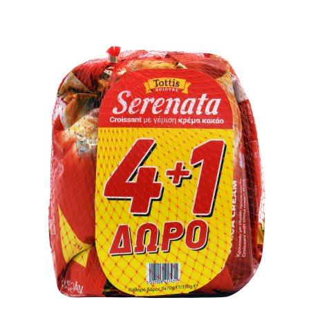 SERENATA Κρουασάν Κακάο 4x70gr +1 Δώρο