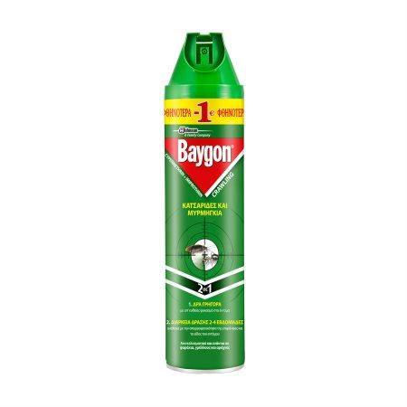 BAYGON Εντομοκτόνο  Σπρέι για Κατσαρίδες & Μυρμήγκια 400ml