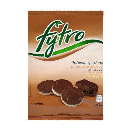 FYTRO Ρυζογκοφρέτες με Σοκολάτα Γάλακτος Χωρίς γλουτένη 60gr