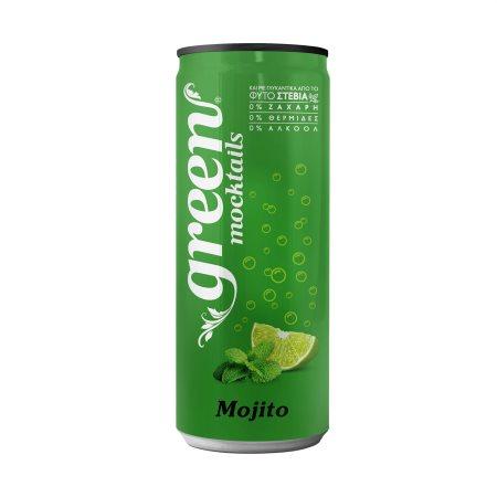 GREEN Mocktails Αναψυκτικό Mojito με Στέβια Χωρίς Ζάχαρη 330ml