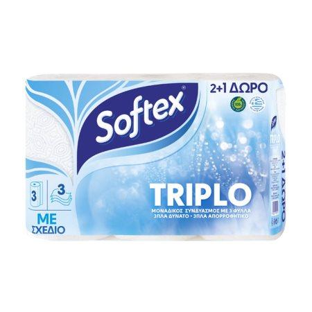 SOFTEX Triplo Χαρτί Κουζίνας Decor 2τεμ +1δώρο 542gr
