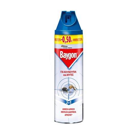 BAYGON Εντομοκτόνο Σπρέι για Μύγες & Κουνούπια 400ml