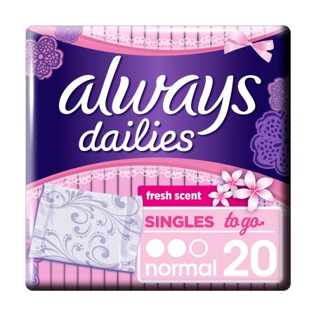 ALWAYS Dailies Singles To Go Σερβιετάκια Normal Fresh 20τεμ