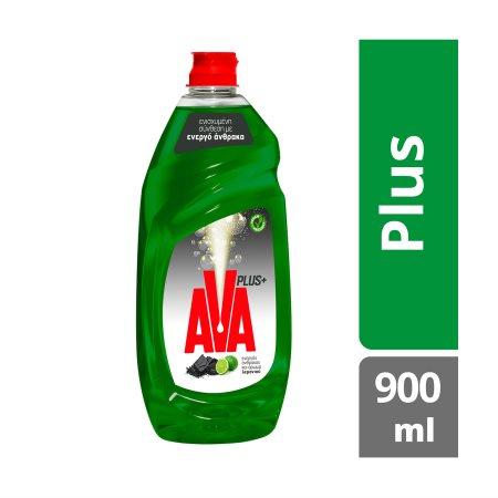AVA Plus+ Απορρυπαντικό Πιάτων Υγρό Λεμόνι 900ml
